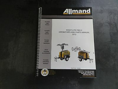Allmand Night-lite Pro Ii Operators And Parts Manual