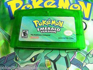 Gameboy cartridge nintendo gameboy advance pokemon emerald version
