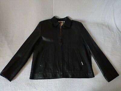 Burberry black leather jacket - Medium/Large size
