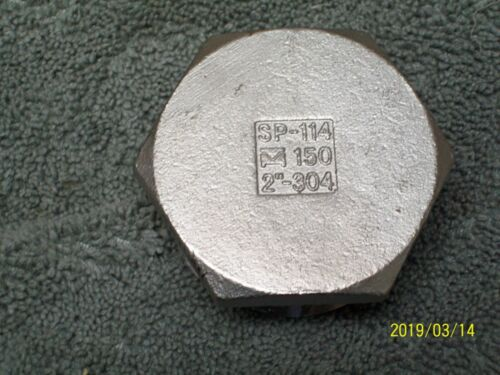"""2"""" NPT 304 STAINLESS STEEL HEX PLUG PIPE FITTING SP-114 150"""