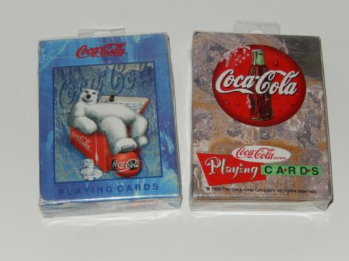 Vintage 1998 Coca Cola Playing Cards Sealed - 2 Sets