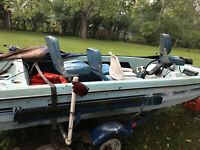 1982 Rinker Bass Boat Outboard Trailer Crestwood, IL | No Fees & No Reserve
