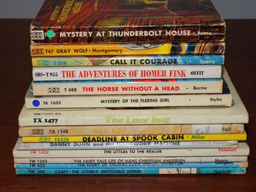 Lot of 14 vintage SBS books Scholastic Book Services mysteries etc.