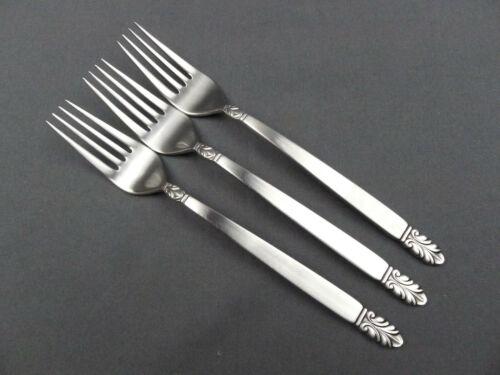 "3 x International Norse Stainless Deluxe Dinner Forks 7 ½"""