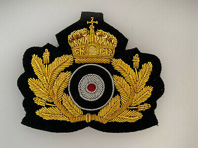 WW1 Imperial German Navy Kaisermarine U Boat wire cap wreath badge insignia  for sale  Shipping to United States
