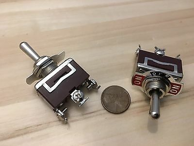 2 Pieces Red 3 Pin Momentary Toggle Switch Onoffon12v 125v Spring Return B5