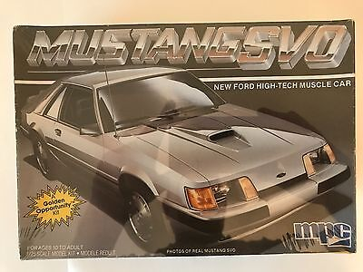 MPC 1/25 Ford Wild Breed Mustang SVO High Tech Muscle Car Model Kit
