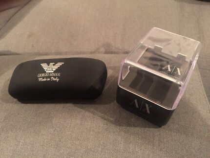 Armani watch box AND sunglasses case AS NEW