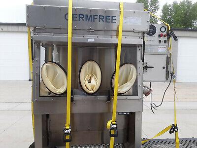 Germfree Lfgi-4usp Laminar Flow Glovebox Glove Box Fume Hood Tested W Warranty