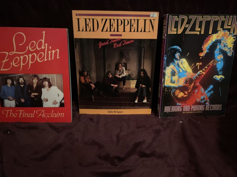 Led Zeppelin Books— A Lot Of 3
