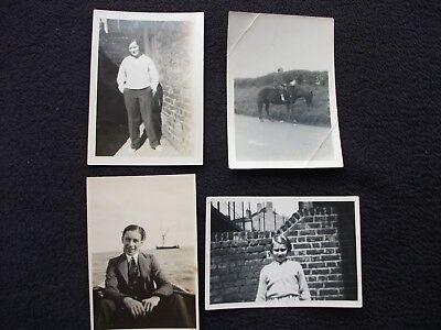 "OLD PHOTOS BLACK AND WHITE 3 ½"" x 2 ½"" x FOUR ORIGINAL PHOTOS"