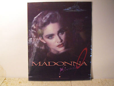 Vintage Laminated Photo of Madonna from 1986 Magazine Ad