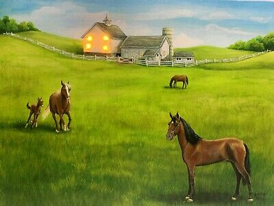 HORSE LED Light Up Lighted Canvas Painting Picture Wall Art Home - Light Up Horse