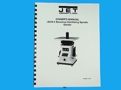 Jet  Jbos-5 Benchtop Oscillating Spindle Sander Owners Manual 198