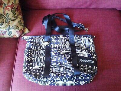 Kipling Shopper Bag Navy Blue and cream patterned. Geometric design.