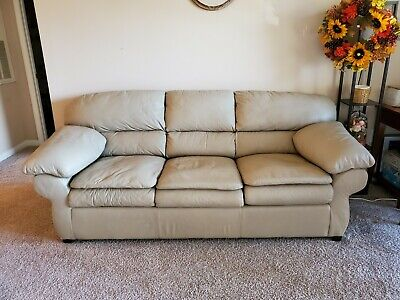 Сomfortable Leather Sofa Hide a Bed Sleeper, Queen Size, Barely used.