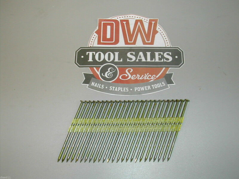 "3 1/4"" Inch Full Round Head Nails 21 Degree (2,000) Plastic Strip"