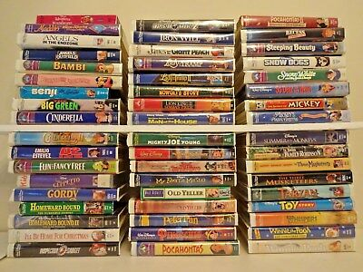Walt Disney Warner Bros. Fox VHS Videos Movies You choose Pick 8 for $15