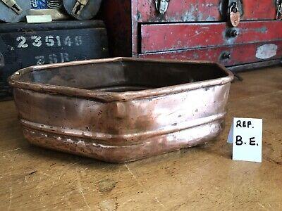 Vintage Copper Brass Planter Plant Pot Antique Old Urn Diamond Shape Florists