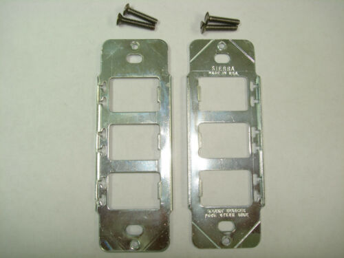 2x Vintage Despard Device Metal Mounting Bracket Switch Outlet Receptacle