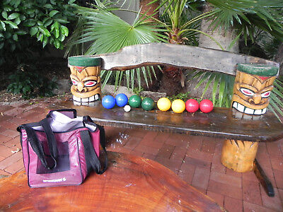 Bocce Book - SportCraft Complete  BOCCE BALL Set in Carry Bag with RULE BOOK