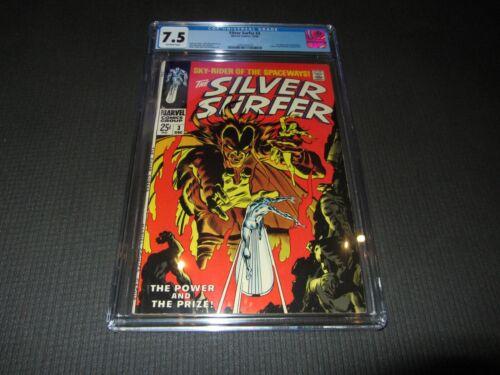 Silver Surfer 3 CGC 7-5 VF-  1st Mephisto (Marvel 1968)