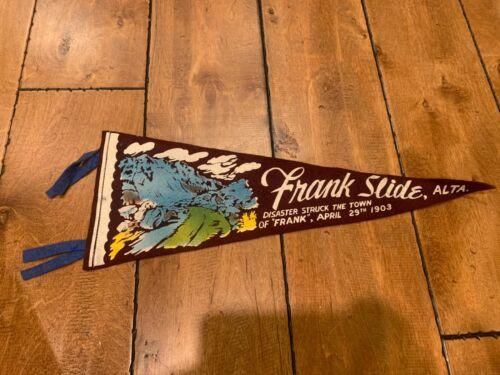 "Vintage FRANK SLIDE ALBERTA CANADA FELT PENNANT 17"""