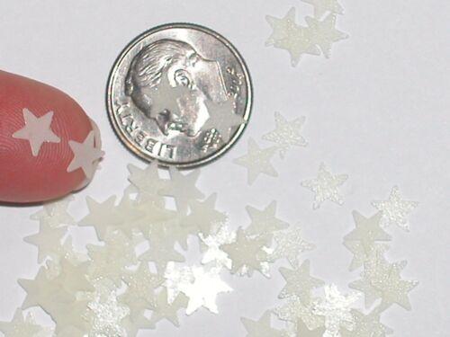 1Pc Tiny Little Bag of GLOW IN DARK MINI STARS Fairy glitter sand New 6mm