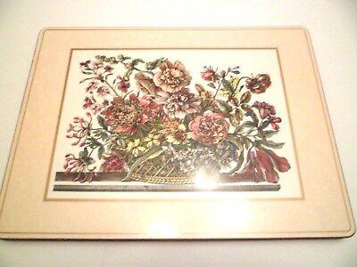 """(4) PIMPERNEL PLACEMATS w/Cork Back """"Flowers  Arrangement""""  England"""