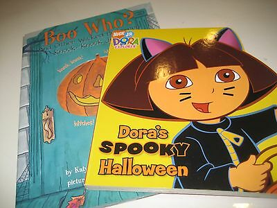 NEW Nick Jr DORAS SPOOKY HALLOWEEN Explorer Preschool BOARD BOOK +  BOO WHO?](Dora's Spooky Halloween Book)