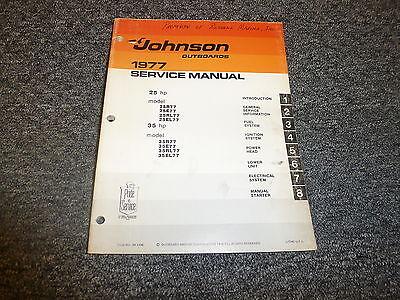 1977 Johnson 25 35 HP Outboard Motor Shop Service Repair Technical Manual