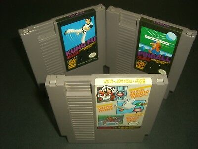 Kung Fu, Pinball & Mario Bros Duck Hunt Track Meet Black Box VERY GOOD COND NES!