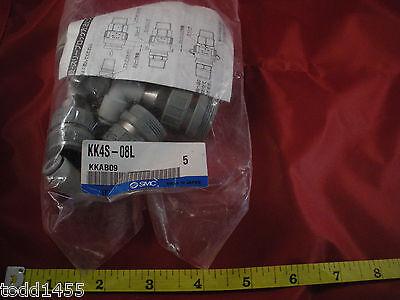 Smc Kk4s-08l Lot Of 5 Pneumatic Kk S Coupler Kkab09 Fitting Connector Nib New