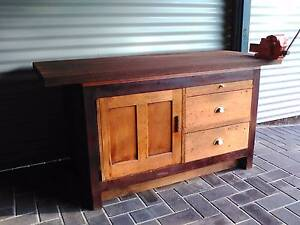Timber workbench Trott Park Marion Area Preview