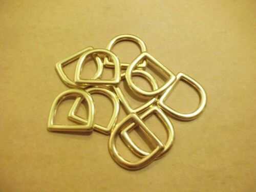 "1"" Solid Brass Cast D Rings (Pack Of 10)"