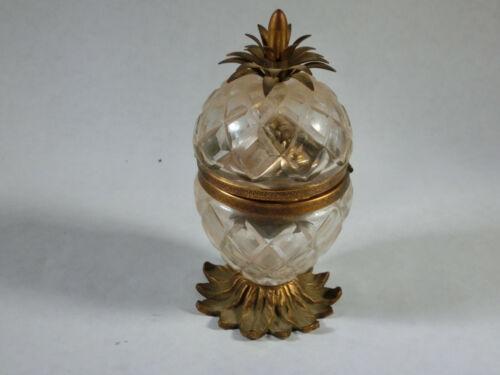Antique Cut Glass and Brass Lighter (1193)