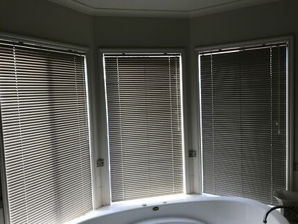 Long Slimline Hallway Window Horizontal Blinds Off White | Curtains ...