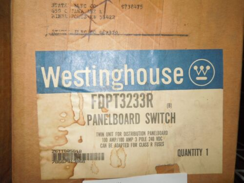 Westinghouse Fdpt3233r 100a/100a 3ph 240v Twin Fusible Panelboard Switch Surplus
