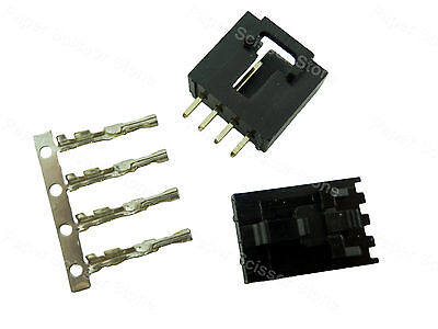 10x Molex 4 Pin 2520 Locked Dupont Connector Plug I Socket Terminal Pin