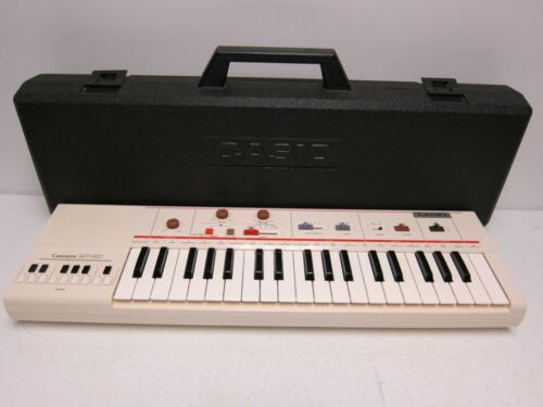 Casiotone MT-40 Portable Keyboard Synthesizer w Case 80s TESTED. WORKING.
