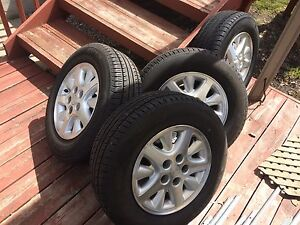 4 summer tires with mag.  5x114.3. 205/70/15