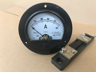 Us Stock 65c5 Dc 050a Analog Amp Current Pointer Needle Panel Meter Shunt