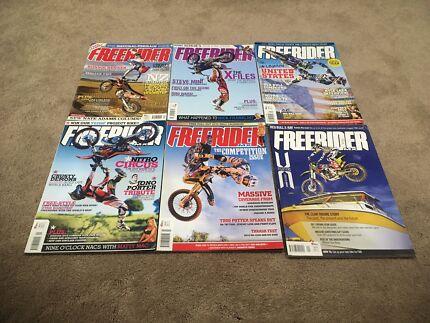 6 motorbike dirt bike magazines