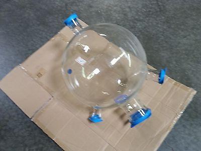 New Qvf Borosilicate Glass 3 Neck 20l Valve Distillation Reactor