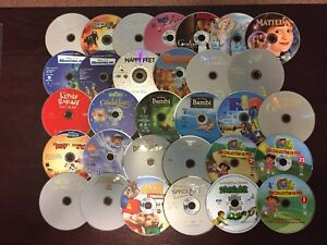 Kids Disney DVD Movie Lot Only ALL Working with CD Zipper Case