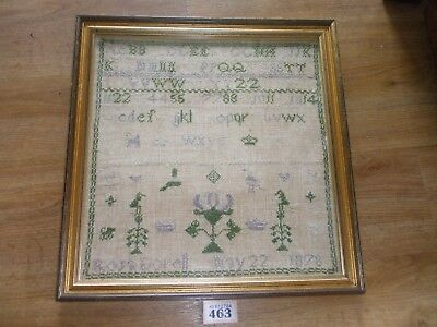 ANTIQUE SAMPLER IN GLAZED FRAME