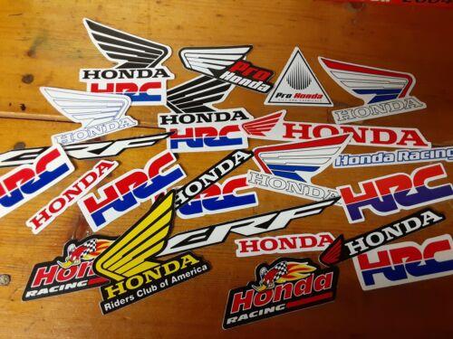 Lot Set of 10 Honda Style Stickers Racing Motorcycle Motocross