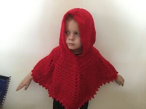 Crochet Girls Hooded Poncho Size 2-3 Capalaba Brisbane South East Preview