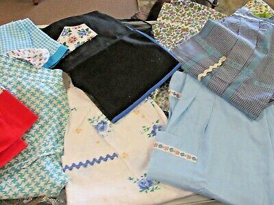 Vintage Aprons, Retro Aprons, Old Fashioned Aprons & Patterns VINTAGE lot of 14 apron aprons linen cotton embroidered 50s 60s 70s aprons  $44.95 AT vintagedancer.com