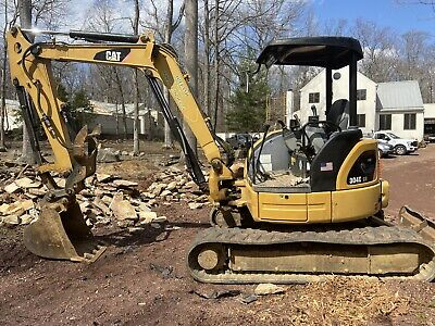 2008 Caterpillar 304c Cr Hydraulic Mini Excavator Aux Hyd Thumb Blade
